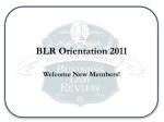 BLR Orientation 2011