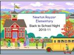 Newton Rayzor  Elementary