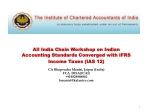 All India Chain Workshop on Indian Accounting Standards Converged with IFRS Income Taxes (IAS 12)