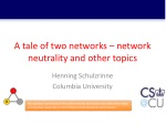 A tale of two networks – network neutrality and other topics