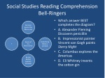 Social Studies Reading Comprehension Bell-Ringers