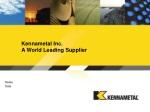 Kennametal Inc. A World Leading Supplier