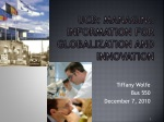UCB: managing information for globalization and innovation
