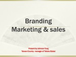 Branding Marketing  & sales