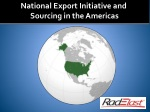 National Export Initiative and  Sourcing in the Americas
