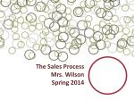 The Sales Process Mrs. Wilson Spring 2014