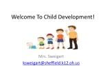 Welcome To Child Development!