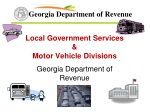 Local Government Services &  Motor Vehicle Divisions