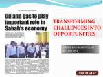 TRANSFORMING CHALLENGES INTO OPPORTUNITIES
