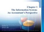 Chapter 1 The Information System:  An Accountant's Perspective