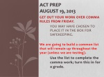 ACT Prep August 19, 2013