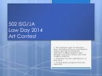 502 ISG/JA Law Day 2014 Art Contest
