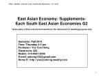 East Asian Economy: Supplements- Each South East Asian Economies G2