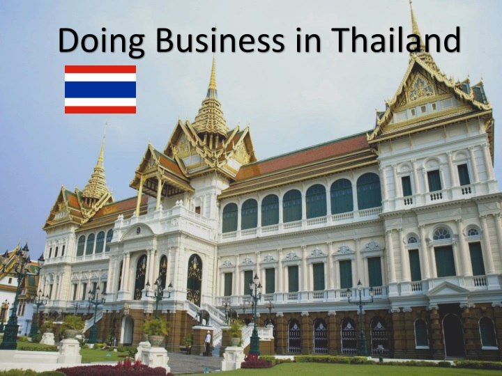 PPT - Doing Business in Thailand PowerPoint Presentation