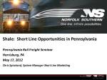 Shale:  Short Line Opportunities in Pennsylvania