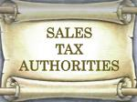 SALES  TAX  AUTHORITIES