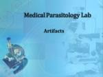 Medical Parasitology Lab