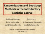 Randomization and Bootstrap Methods in the Introductory S tatistics Course