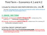 Third Term  –  Economics  4.1 and 4.2