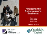 Financing the Entrepreneur's Business: