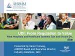 UDI: From Regulation to Value