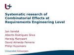 Systematic research of Combinatorial Effects at Requirements Engineering Level