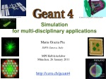 Simulation for multi-disciplinary applications