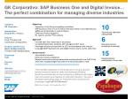 GK Corporativo : SAP Business One and Digital Invoice… The perfect combination for managing diverse industries