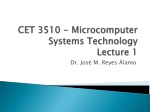 CET 3510 - Microcomputer Systems Technology Lecture 1