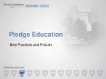 Pledge Education