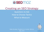 Creating an SEO Strategy Questions to Ask How to Choose Tactics What to Measure