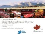 Canada Beef Inc. Global Marketing Strategy Overview