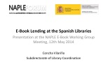 E-Book  Lending at the Spanish Libraries