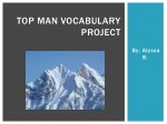 TOP MAN VOCABULARY  PROJECT