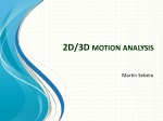 2D/3D  motion analysis