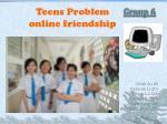 Teens Problem online friendship