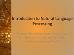 Introduction to Natural Language Processing