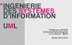 INGENIERIE DES SYSTEMES D'INFORMATION U M L