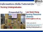 Information Skills Tutorial for Presented by