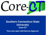 Southern Connecticut State University Core-CT  Time and Labor Self-Service Approver