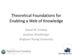 Theoretical Foundations for Enabling a Web of Knowledge