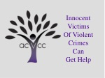 Innocent Victims Of Violent Crimes Can Get Help
