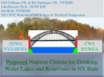 Proposed Nutrient Criteria for Drinking Water Lakes and Reservoirs in NY State
