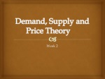 Demand, Supply and Price Theory