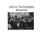 Unit 11: The Civil Rights Movement