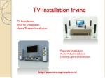 TV Installation Irvine