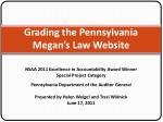 Grading the Pennsylvania Megan's Law Website
