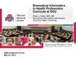 Biomedical Informatics in Health Professions Curricula at OSU