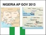 NIGERIA AP GOV 2013