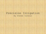 Precision Irrigation By Steven Calhoun